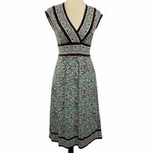 BCBGMaxazria Deep V Neck Below Knee Dress XS